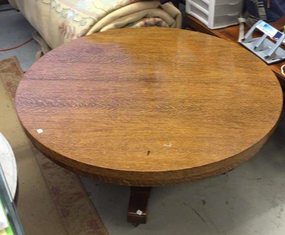 Medium Shade Wood Round coffee Table - 4