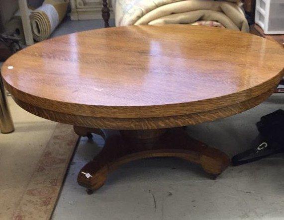 Medium Shade Wood Round coffee Table - 5
