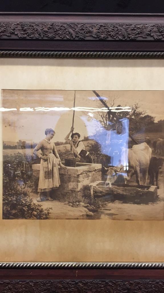 2 Piece Framed Vintage Artworks - 2