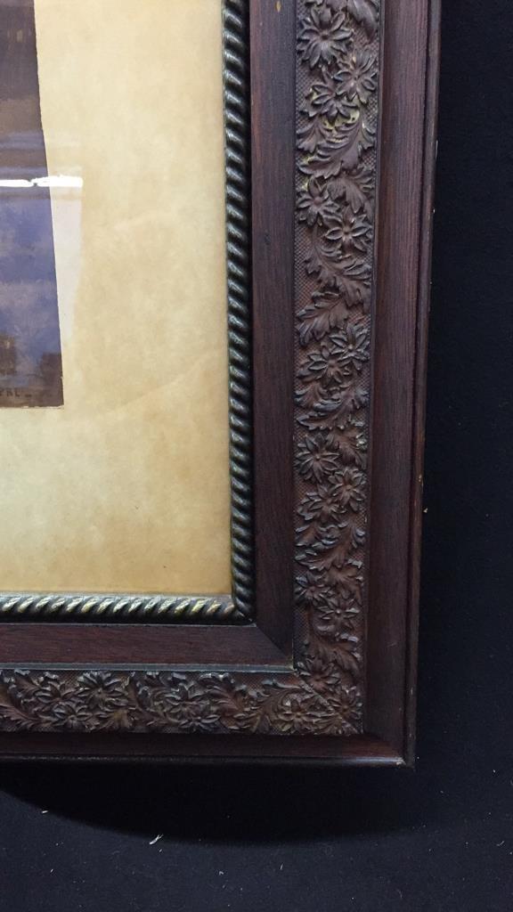 2 Piece Framed Vintage Artworks - 4