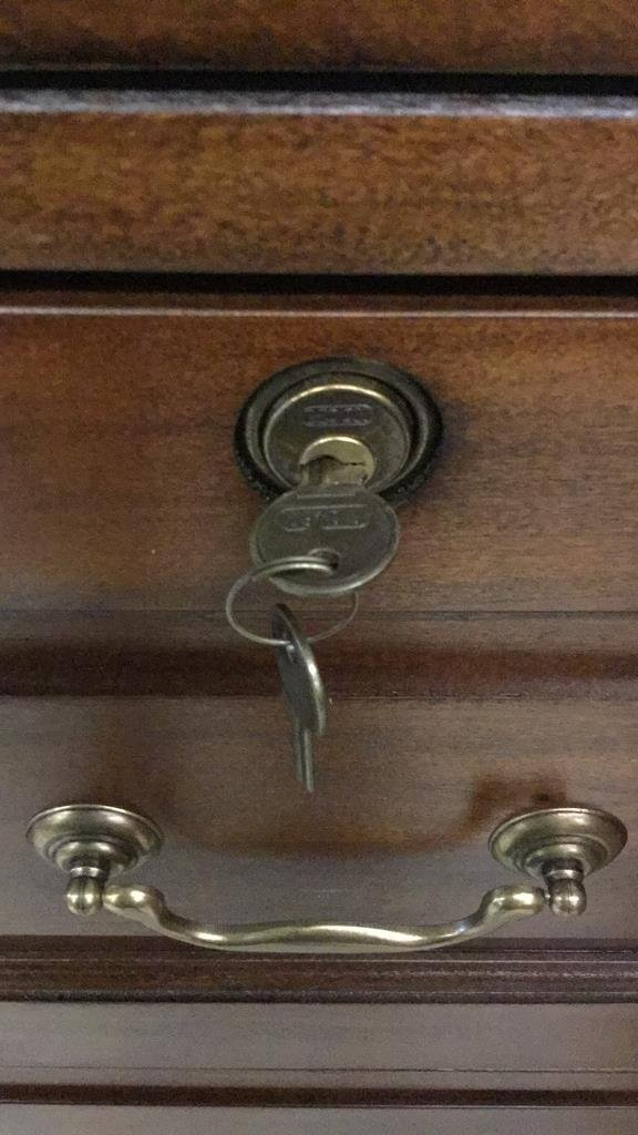 Wooden File Cabinet - 4
