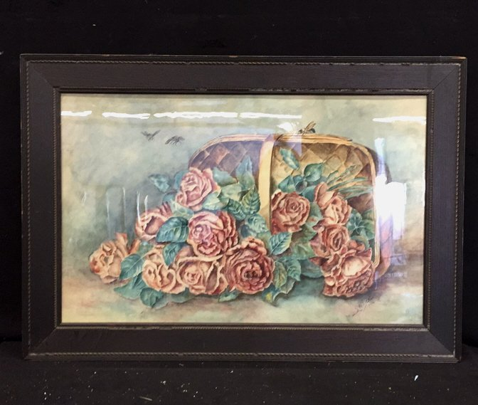 Illegibly Signed Water Color Painting