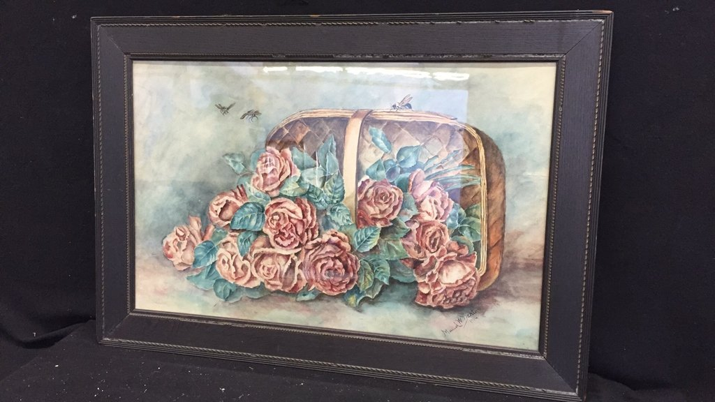 Illegibly Signed Water Color Painting - 2