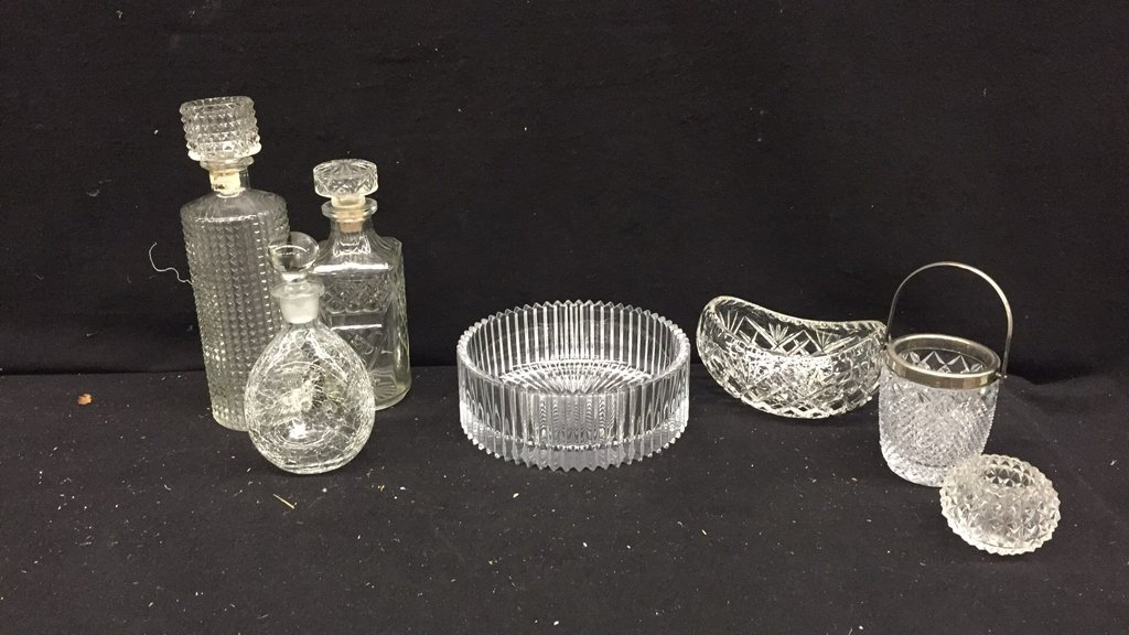17 Piece Glass Brass and Silver Set - 5