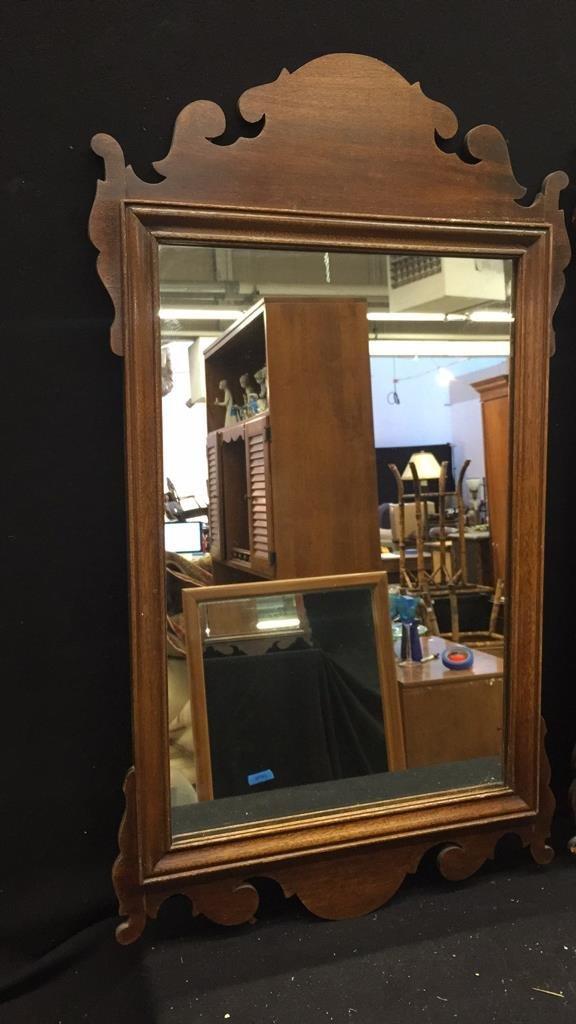 2 Vintage Wooden Mirrors - 2