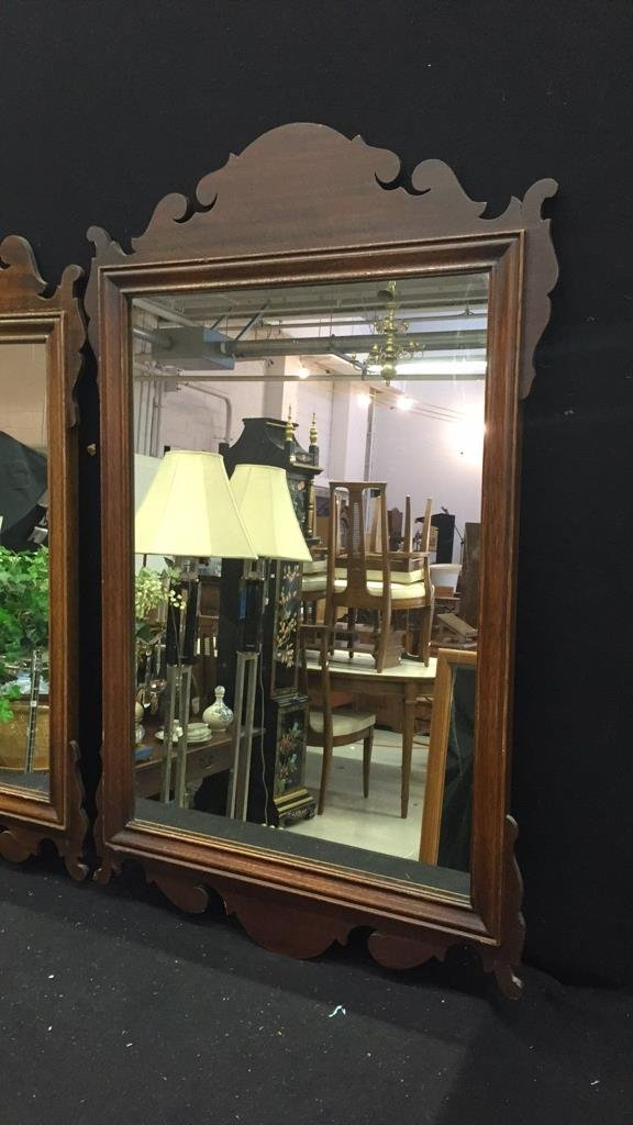 2 Vintage Wooden Mirrors - 3