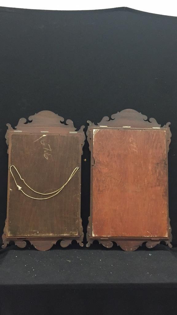 2 Vintage Wooden Mirrors - 4