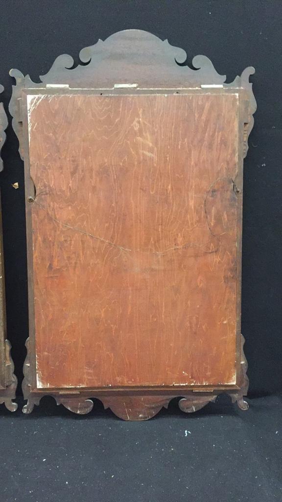 2 Vintage Wooden Mirrors - 5
