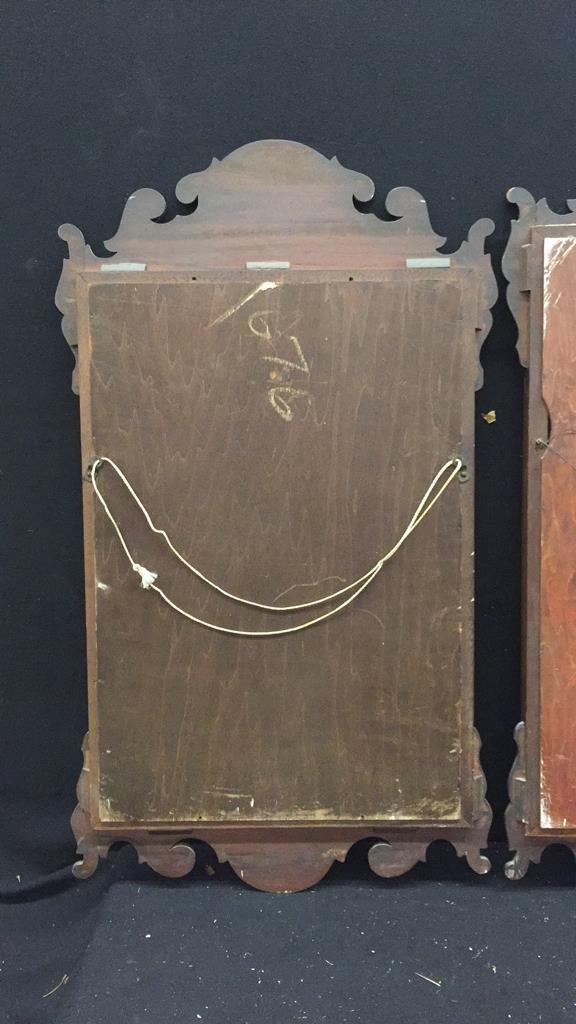 2 Vintage Wooden Mirrors - 6