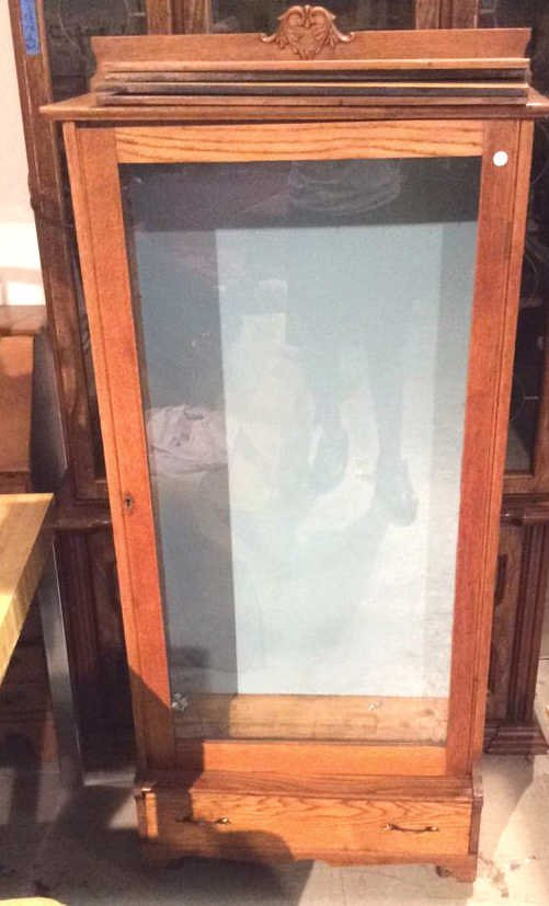 Mid Century Modern Glass And Wooden Cabinet - 2