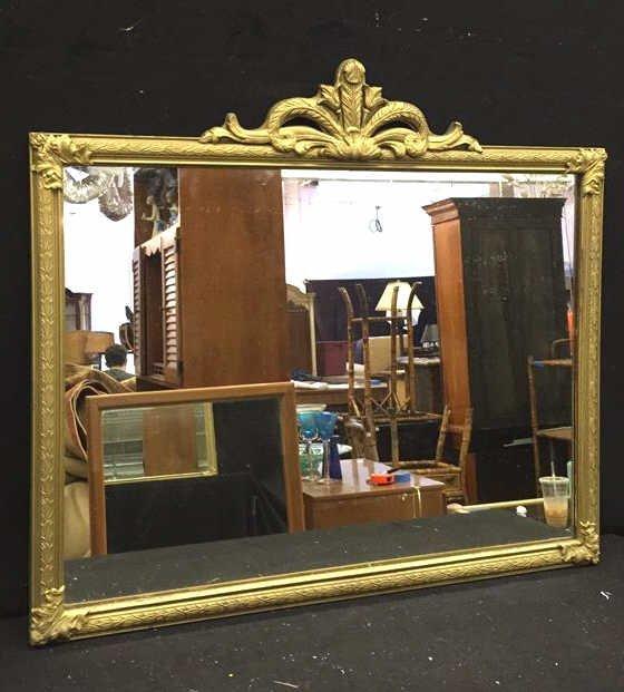 Metallic Gold Framed Mirror