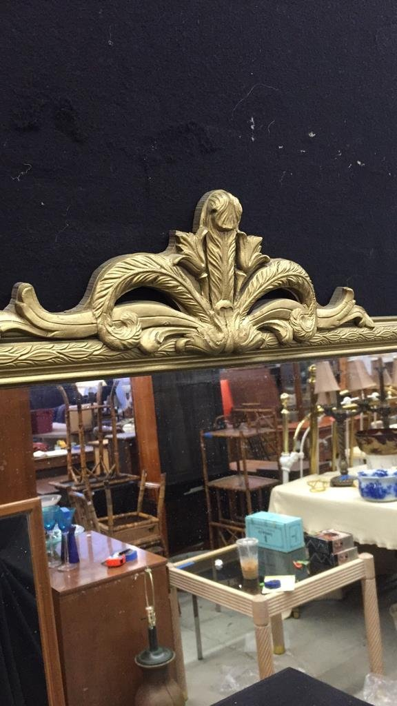 Metallic Gold Framed Mirror - 3