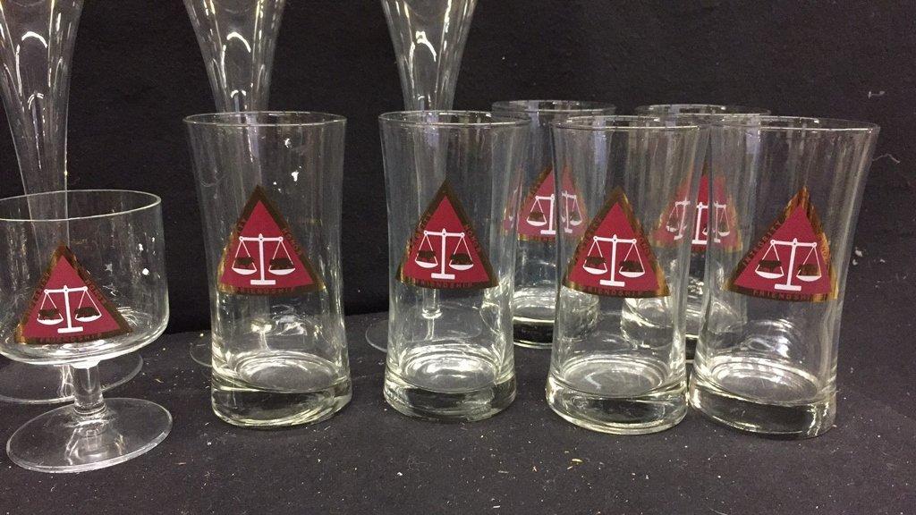 25 Piece Corporation Bond Traders Club Glass Set - 6