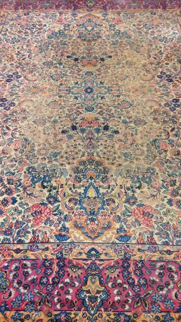 Colorful Vintage Hand Stitched Carpet - 2