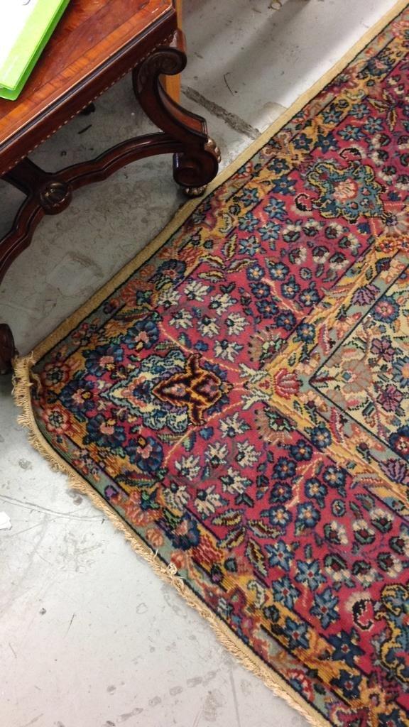 Colorful Vintage Hand Stitched Carpet - 3