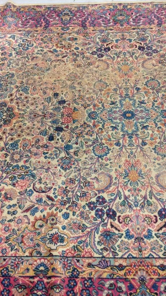 Colorful Vintage Hand Stitched Carpet - 4