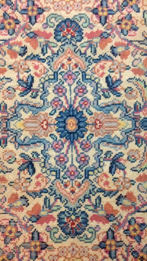 Colorful Vintage Hand Stitched Carpet - 5