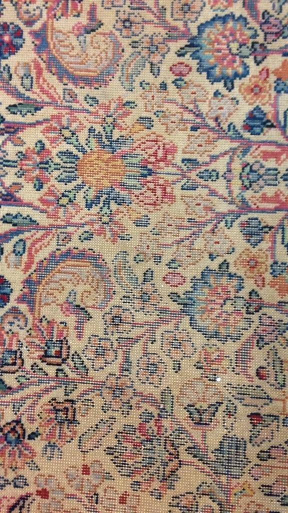 Colorful Vintage Hand Stitched Carpet - 6