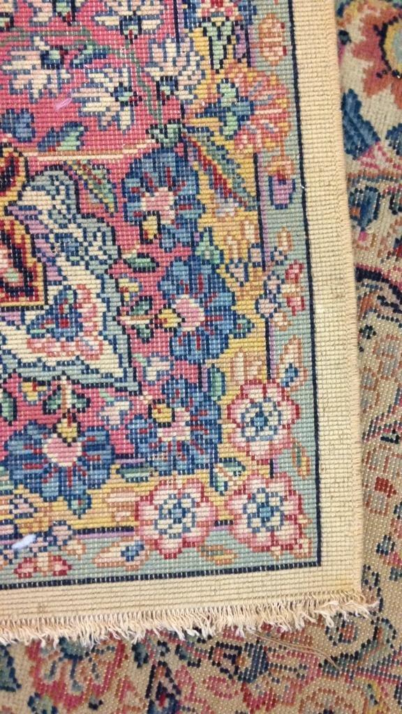 Colorful Vintage Hand Stitched Carpet - 7