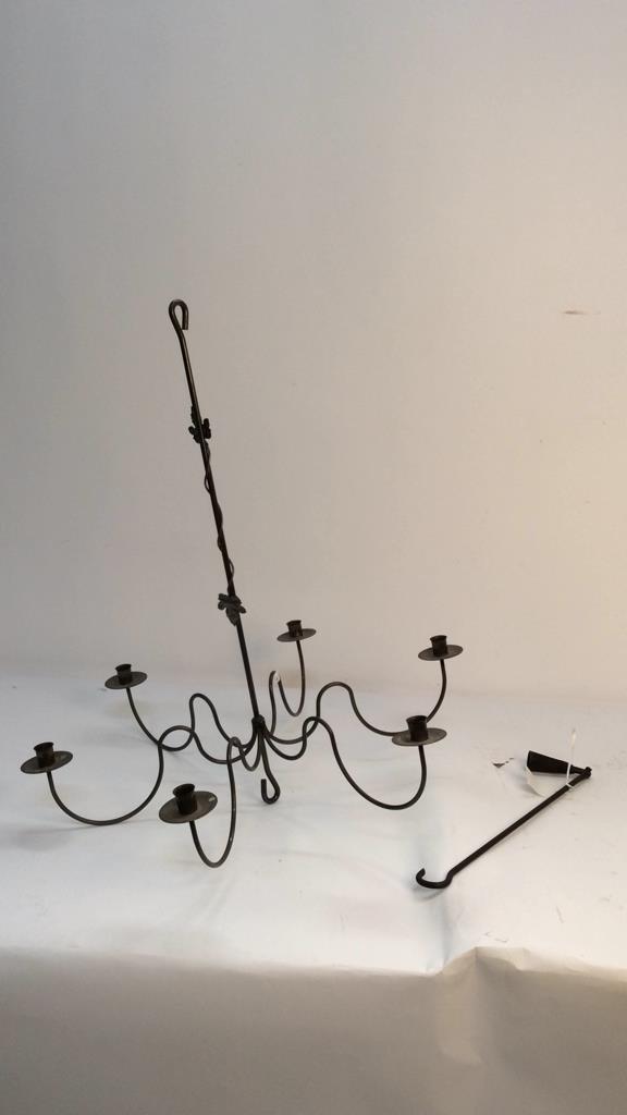 Vintage Hanging Candle Chandelier - 2