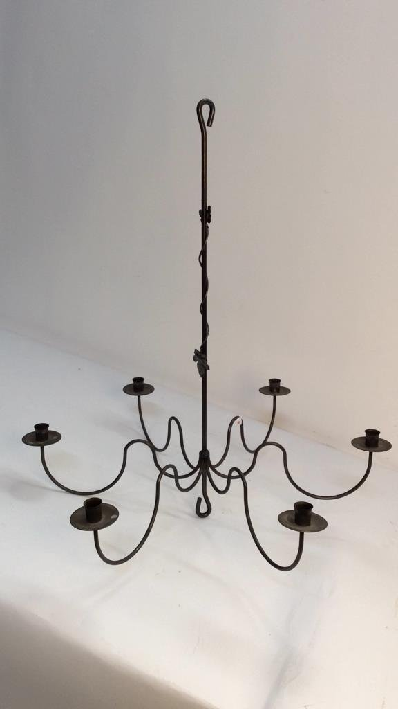 Vintage Hanging Candle Chandelier - 3