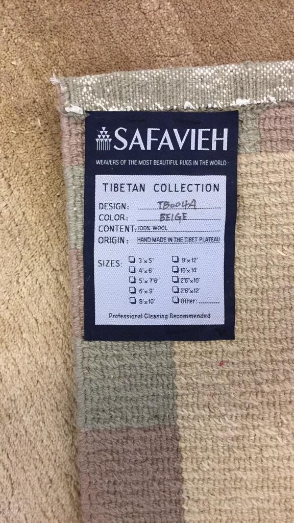 Tibetan Collection Hand Made 100% Wool Rug - 5