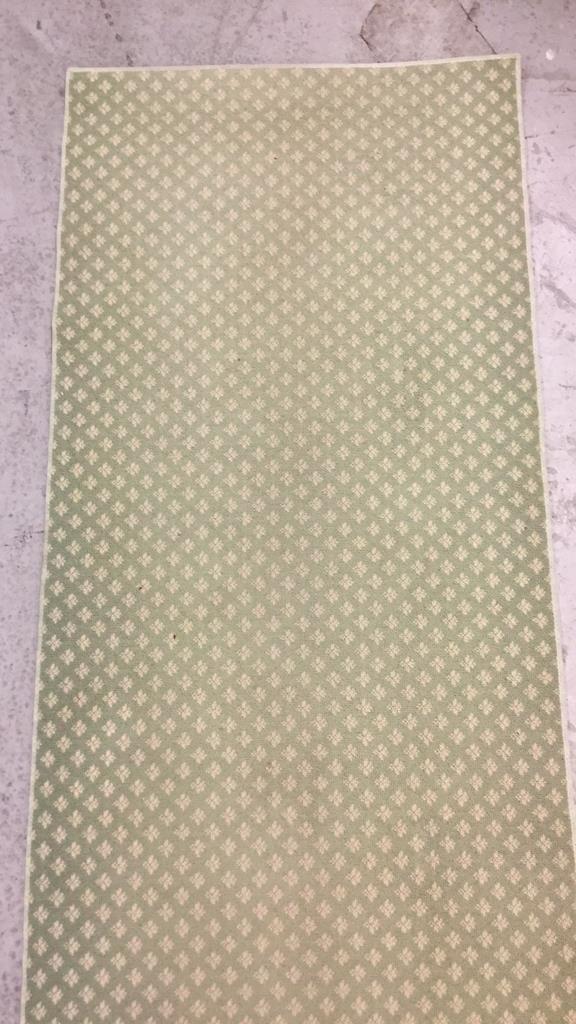Green & White Geo Floral Print Runner - 4