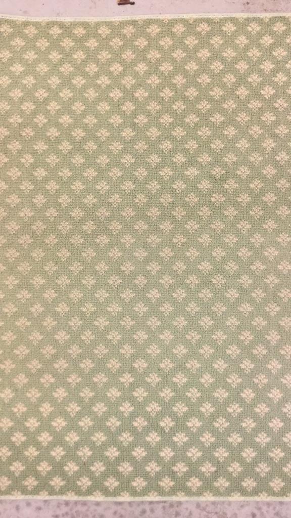 Green & White Geo Floral Print Runner - 5