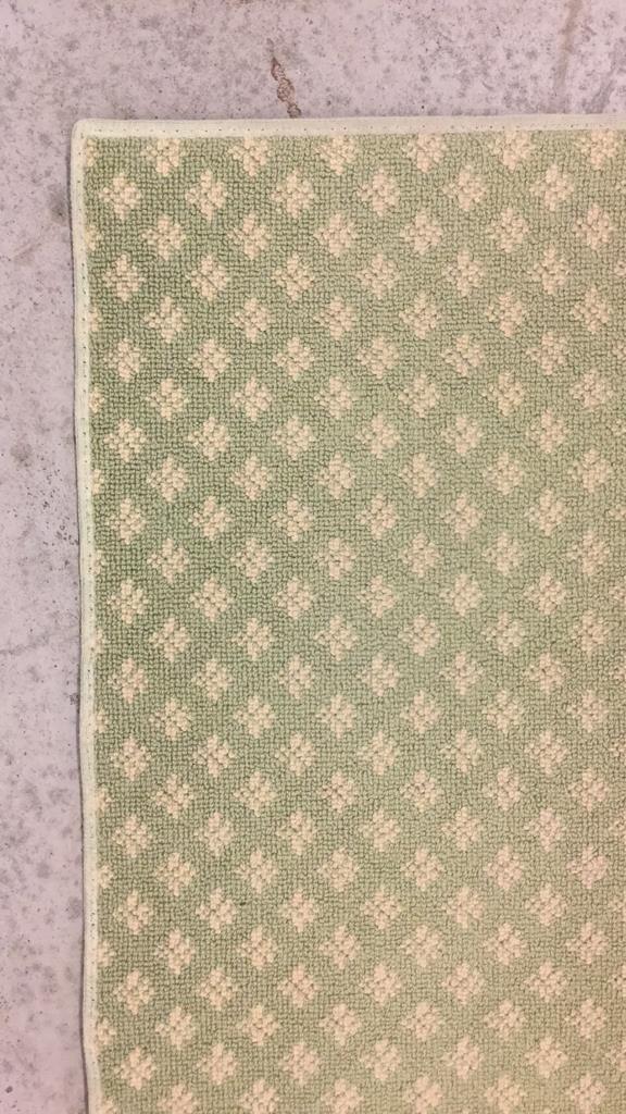 Green & White Geo Floral Print Runner - 6