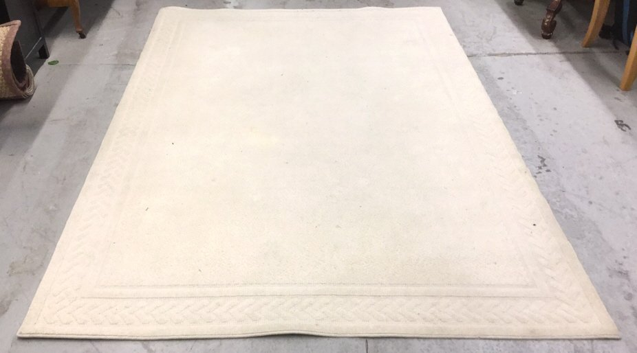 Ivory Wool Cashel Design Carpet