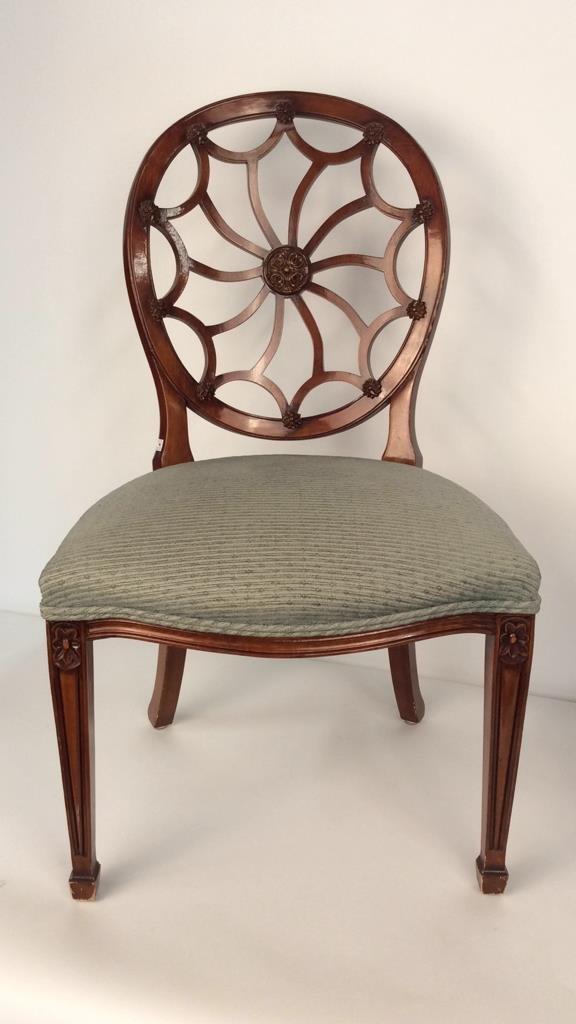 Pair Antique Style Hepplewhite Chairs - 2