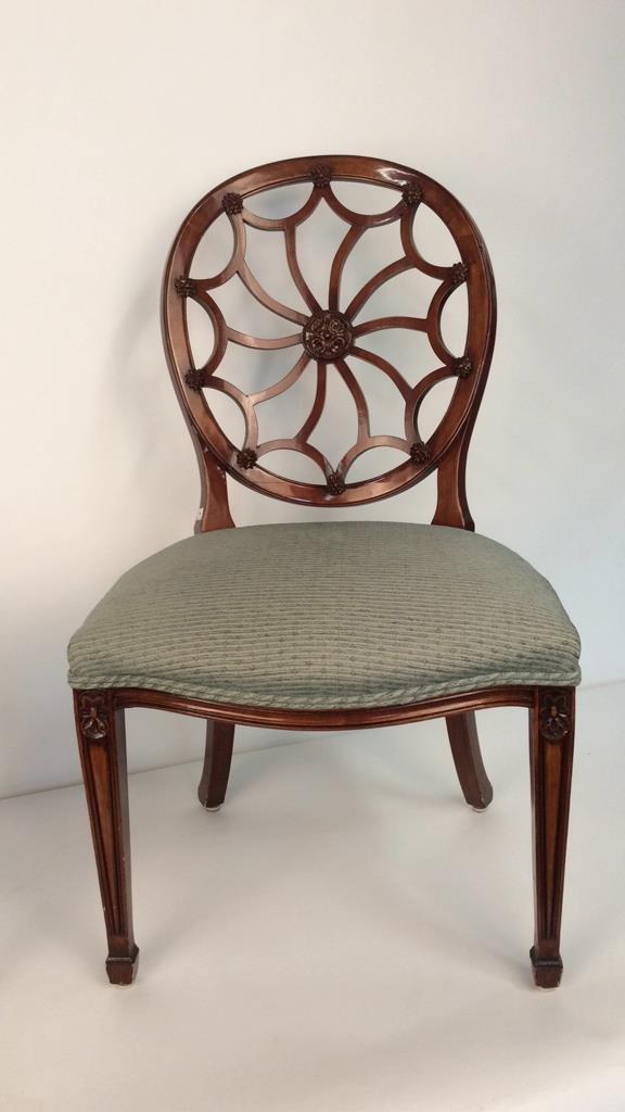 Pair Antique Style Hepplewhite Chairs - 3