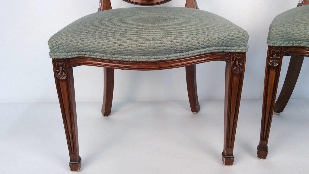Pair Antique Style Hepplewhite Chairs - 4