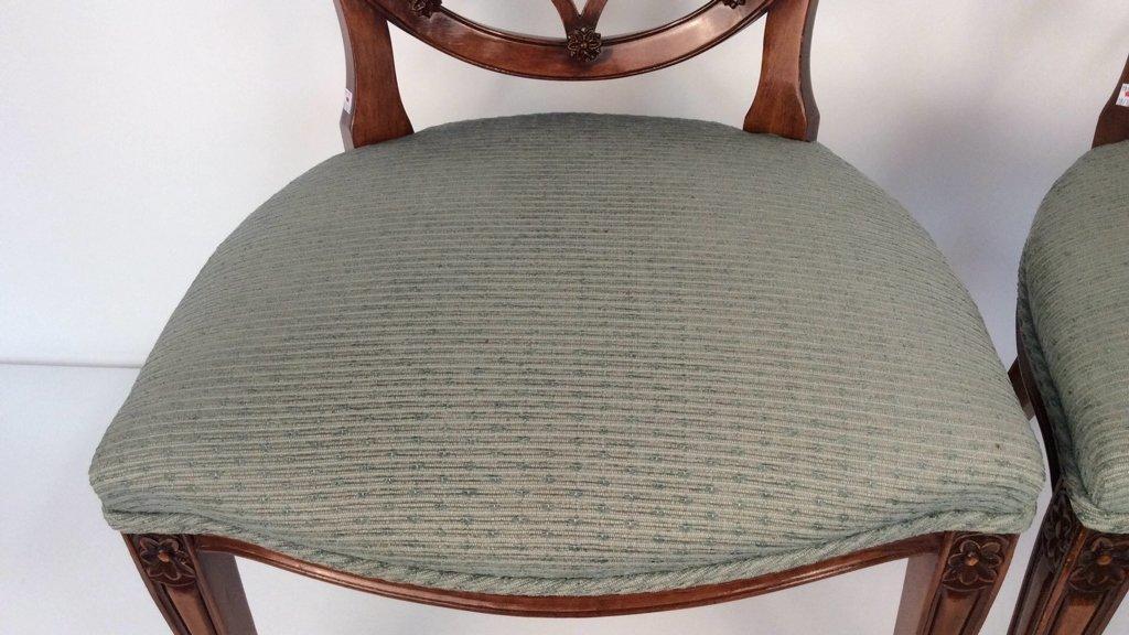 Pair Antique Style Hepplewhite Chairs - 5