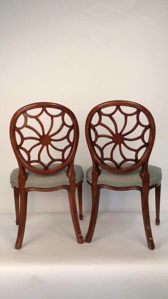 Pair Antique Style Hepplewhite Chairs - 8