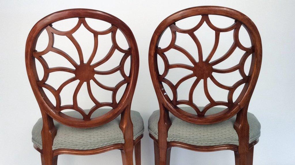 Pair Antique Style Hepplewhite Chairs - 9