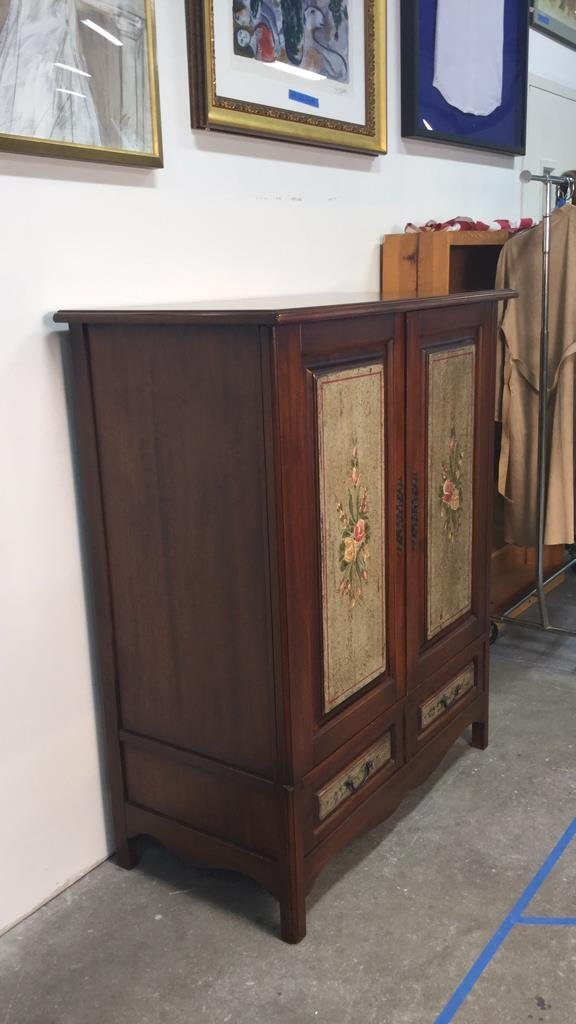Country French Wood Cabinet - 3