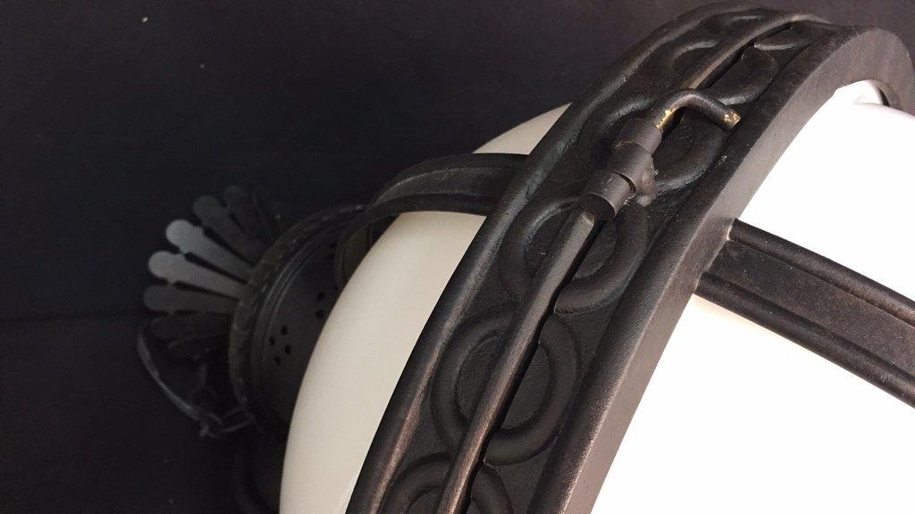 Gyroscope Style Wrought Iron Globe Chandelier - 10
