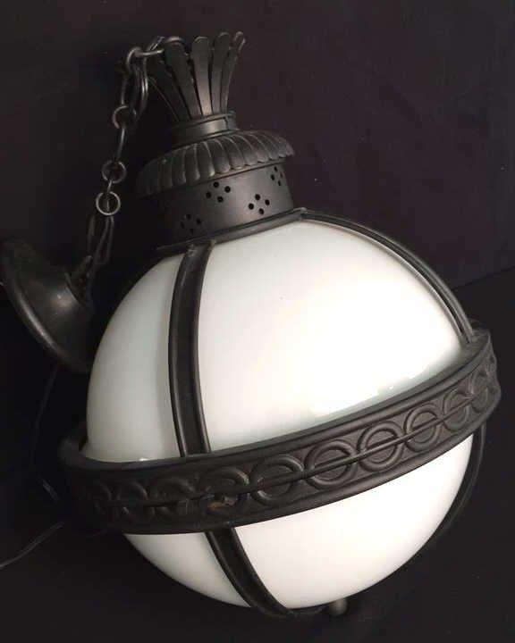 Gyroscope Style Wrought Iron Globe Chandelier