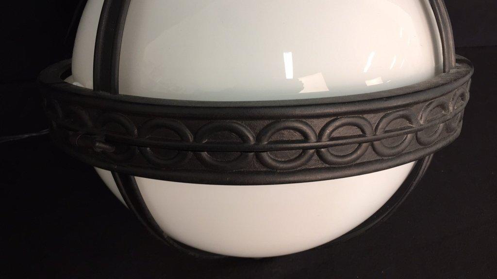 Gyroscope Style Wrought Iron Globe Chandelier - 2