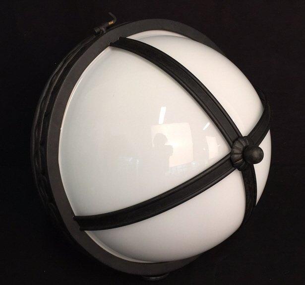 Gyroscope Style Wrought Iron Globe Chandelier - 8