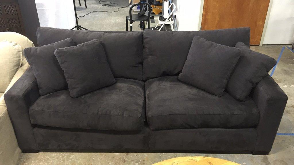 CRATE & BARREL Ultra Suede Sofa - 10