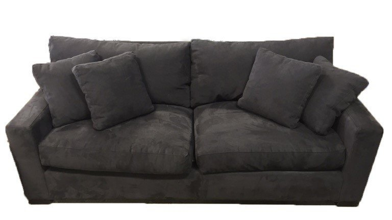 CRATE & BARREL Ultra Suede Sofa