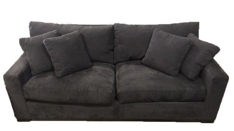 CRATE & BARREL Ultra Suede Sofa
