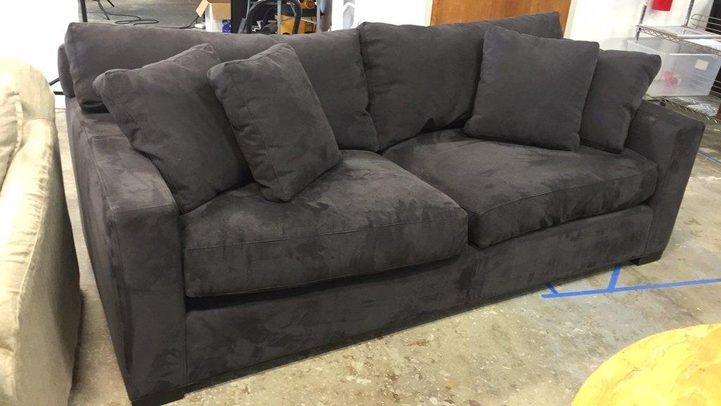 CRATE & BARREL Ultra Suede Sofa - 2
