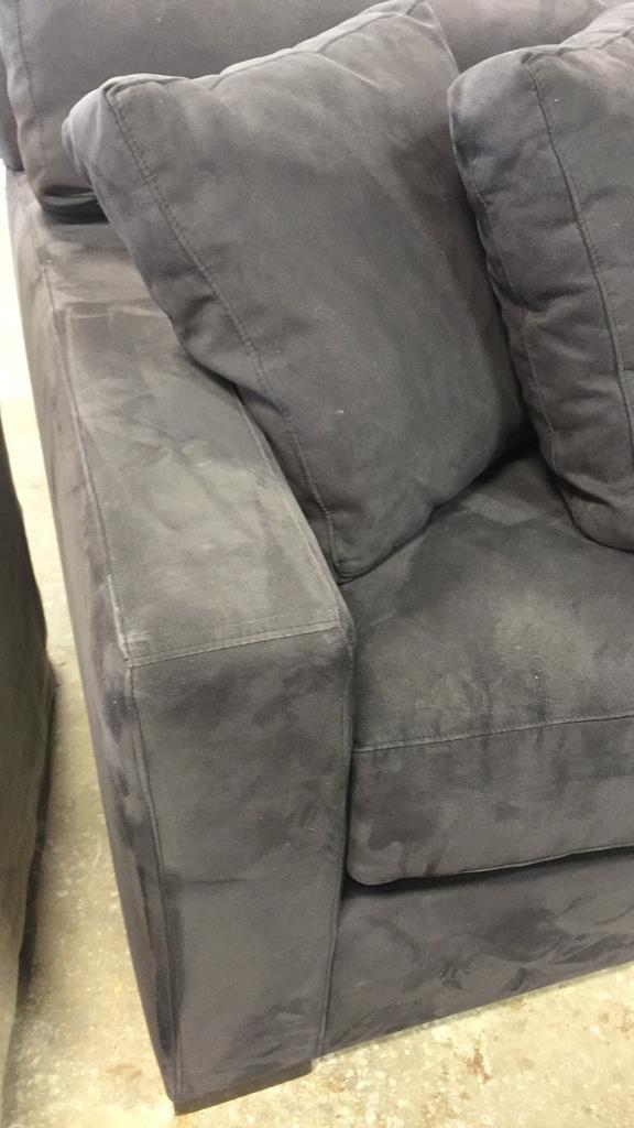 CRATE & BARREL Ultra Suede Sofa - 3