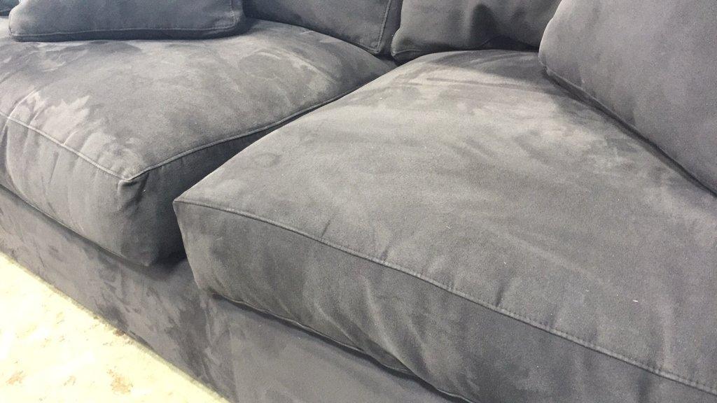 CRATE & BARREL Ultra Suede Sofa - 4