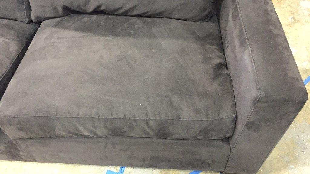 CRATE & BARREL Ultra Suede Sofa - 5