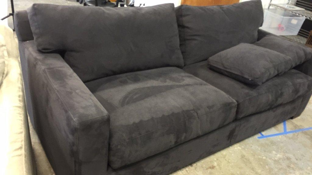CRATE & BARREL Ultra Suede Sofa - 9