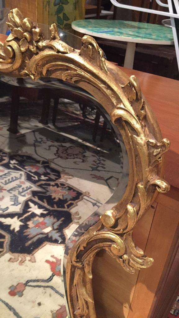 Ornate Victorian Carved Gold Leaf Mirror - 6